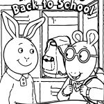 Arthur Goes Back To School Coloring Page