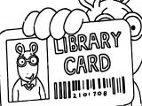 Arthur Library Card Coloring Page