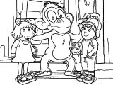 Arthur Monkey Friends Coloring Page