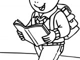 Arthur Reading A Book Coloring Page