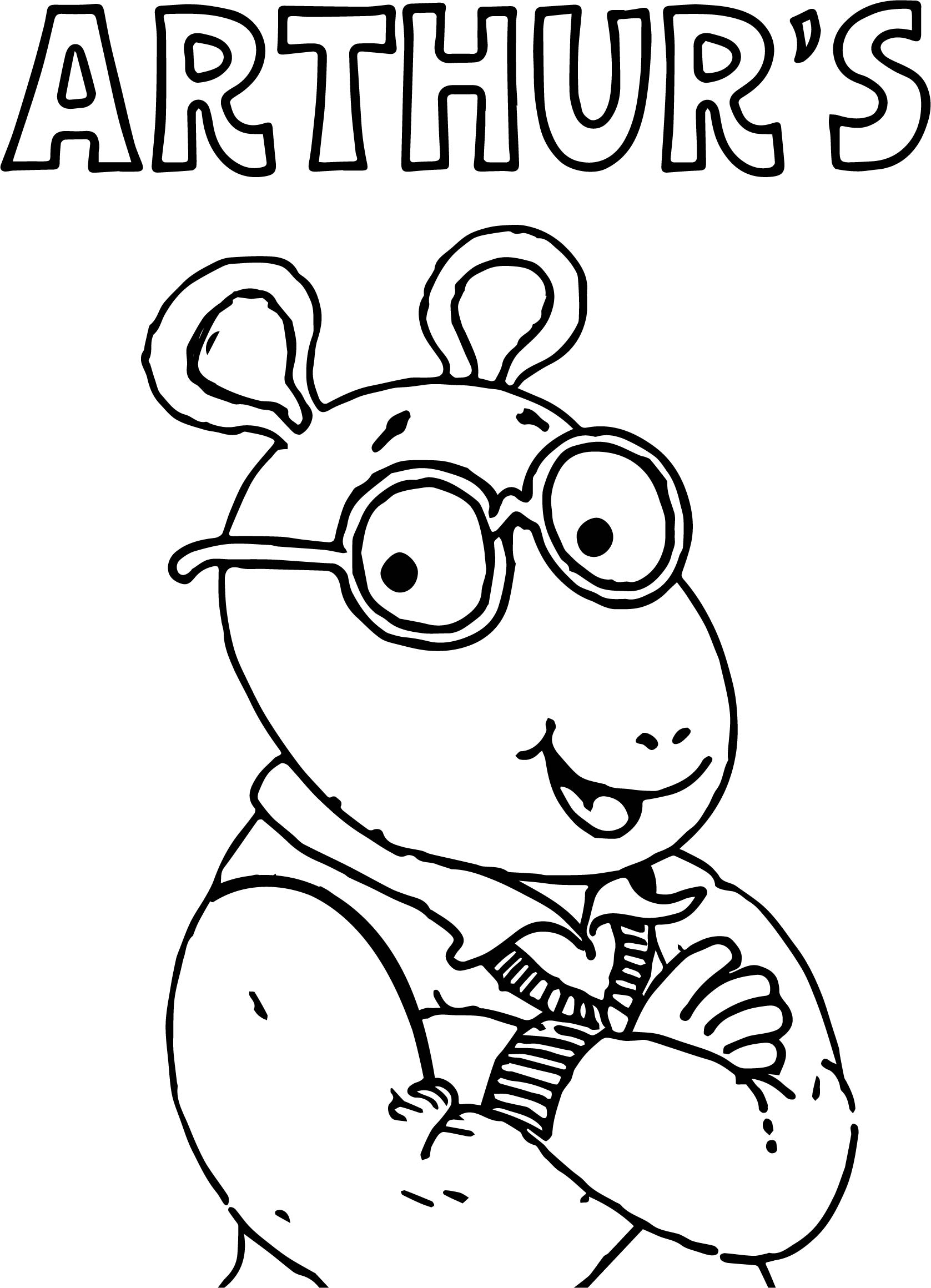 Arthur Text And Arthur Coloring Page