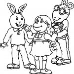 Arthur Three Friends Coloring Page