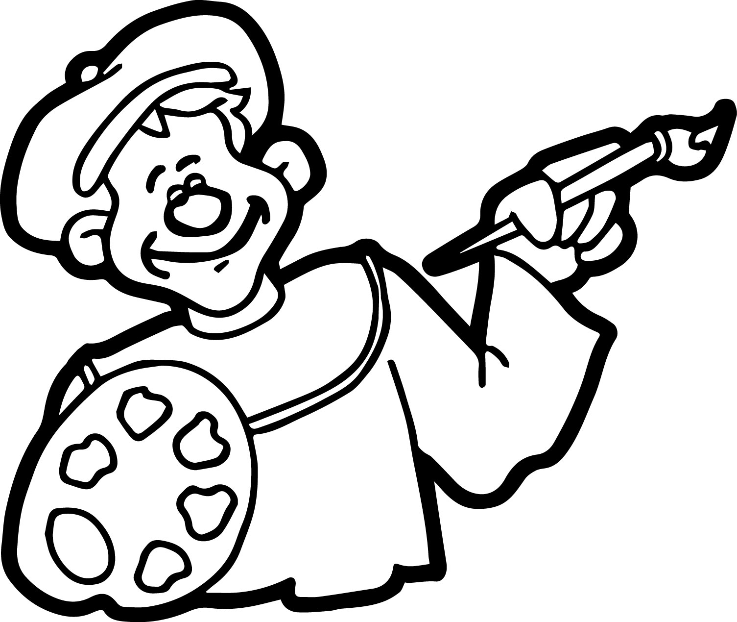 Artist Occupations Artist Coloring Page