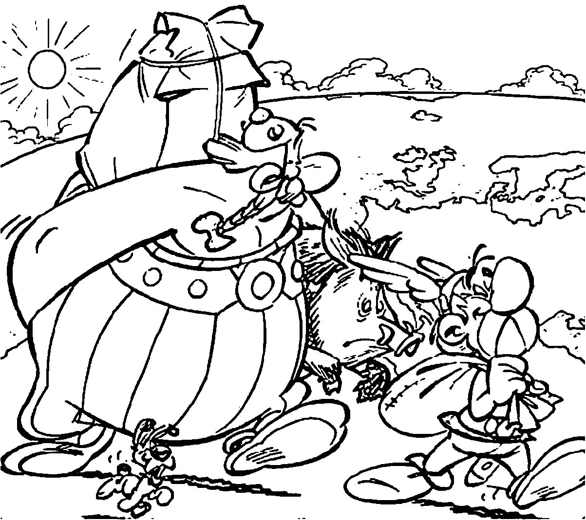 Asterix Asterix Obelix Coloring Page