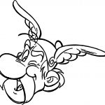 Asterix Head Coloring Page
