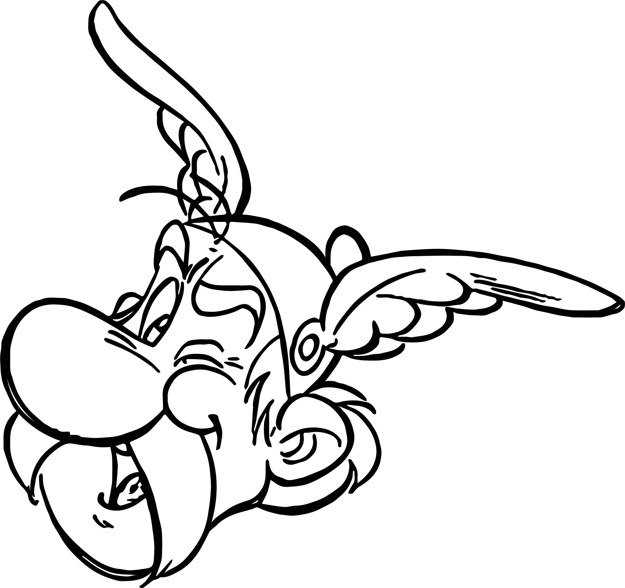 Asterix Head Coloring Page