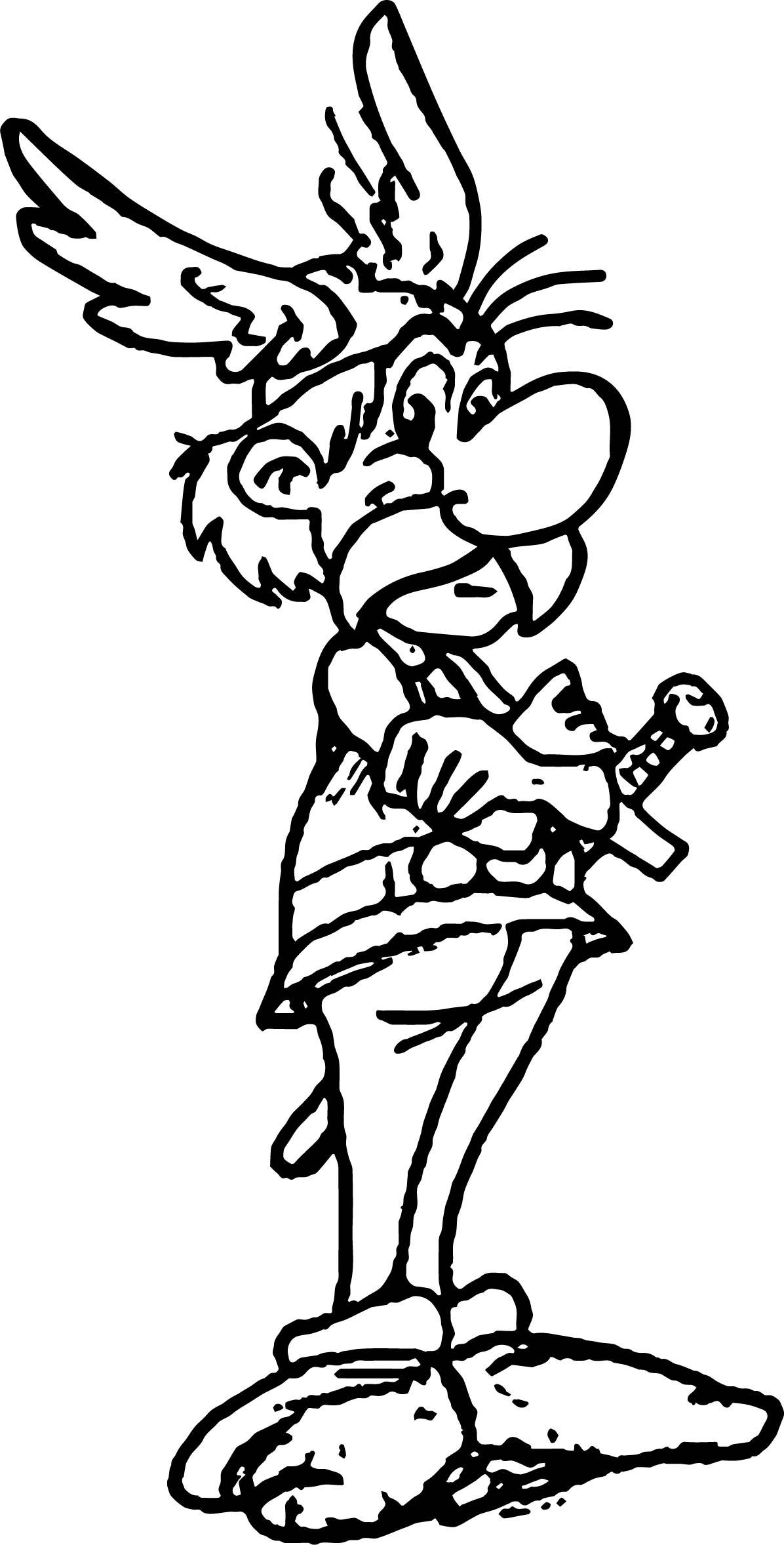 Asterix Mediocratix Coloring Page