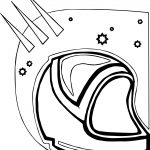Astronaut Helmet Star Coloring Page