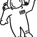Astronaut High Coloring Page