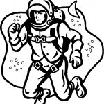 Astronaut Jump Man Coloring Pages
