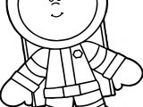 Astronaut Kid New Free Coloring Page