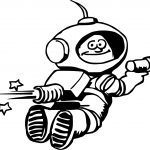 Astronaut Laser Man Coloring Page