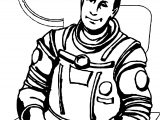 Astronaut Man In Rocket Coloring Page