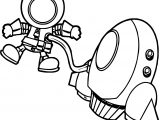 Astronaut Man On Space Coloring Page