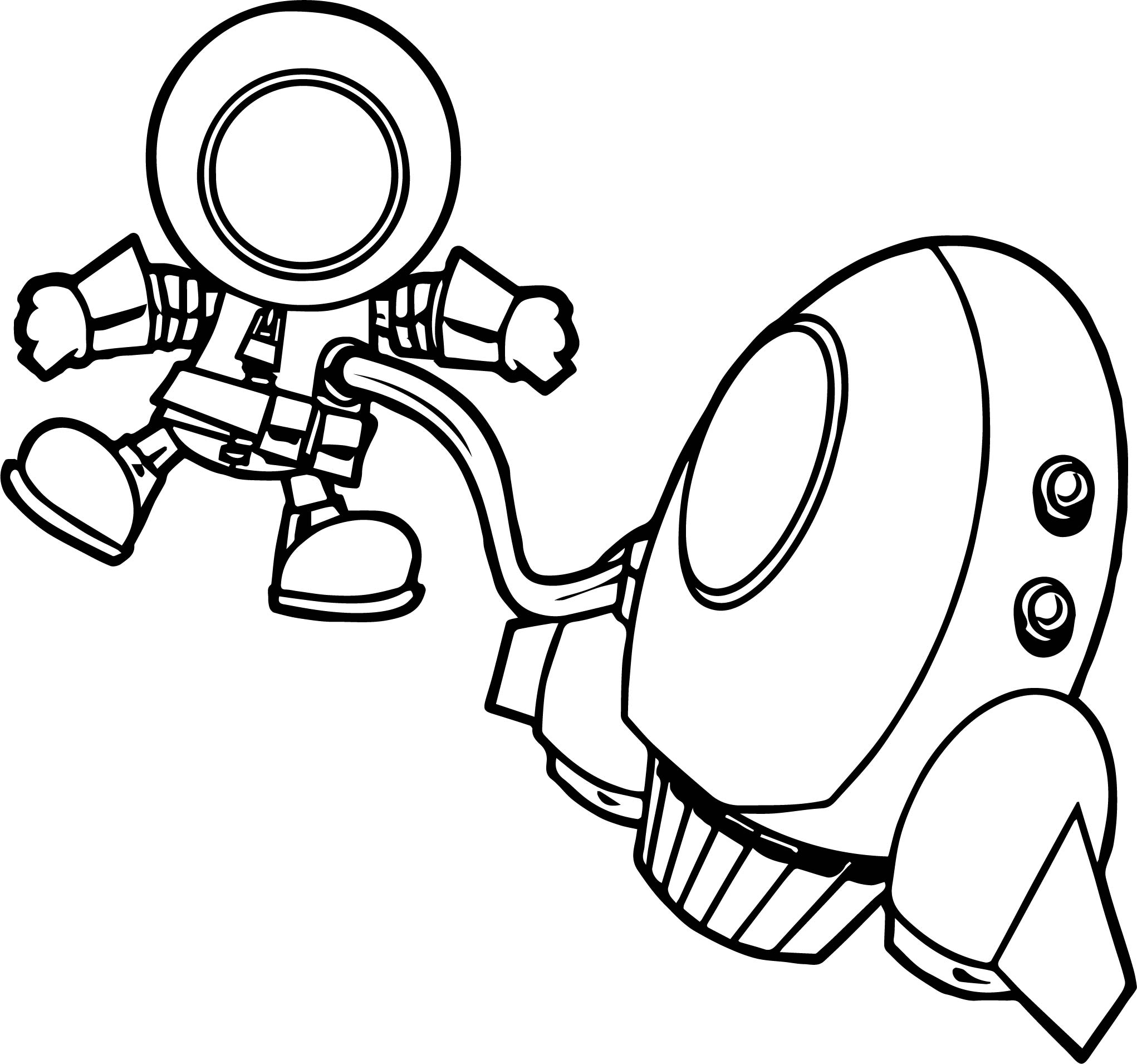 Astronaut Man On Space Coloring Page | Wecoloringpage.com