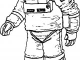 Astronaut Nasa Coloring Page