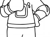 Astronaut Right Coloring Page