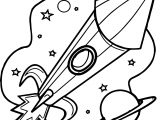 Astronaut Rocket Launcher Coloring Page