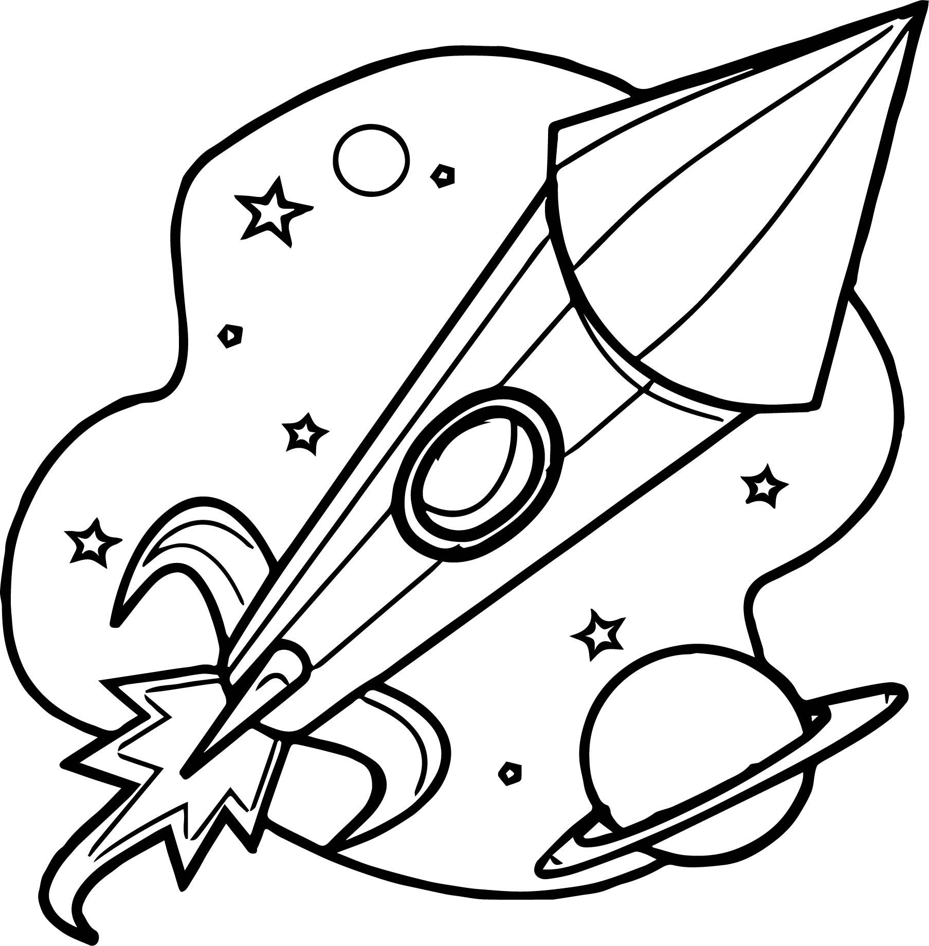Astronaut Rocket Launcher Coloring Page