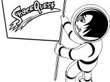 Astronaut Space Quest Coloring Page