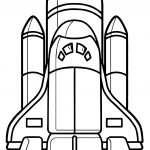 Astronaut Vehicle Rocket Coloring Page