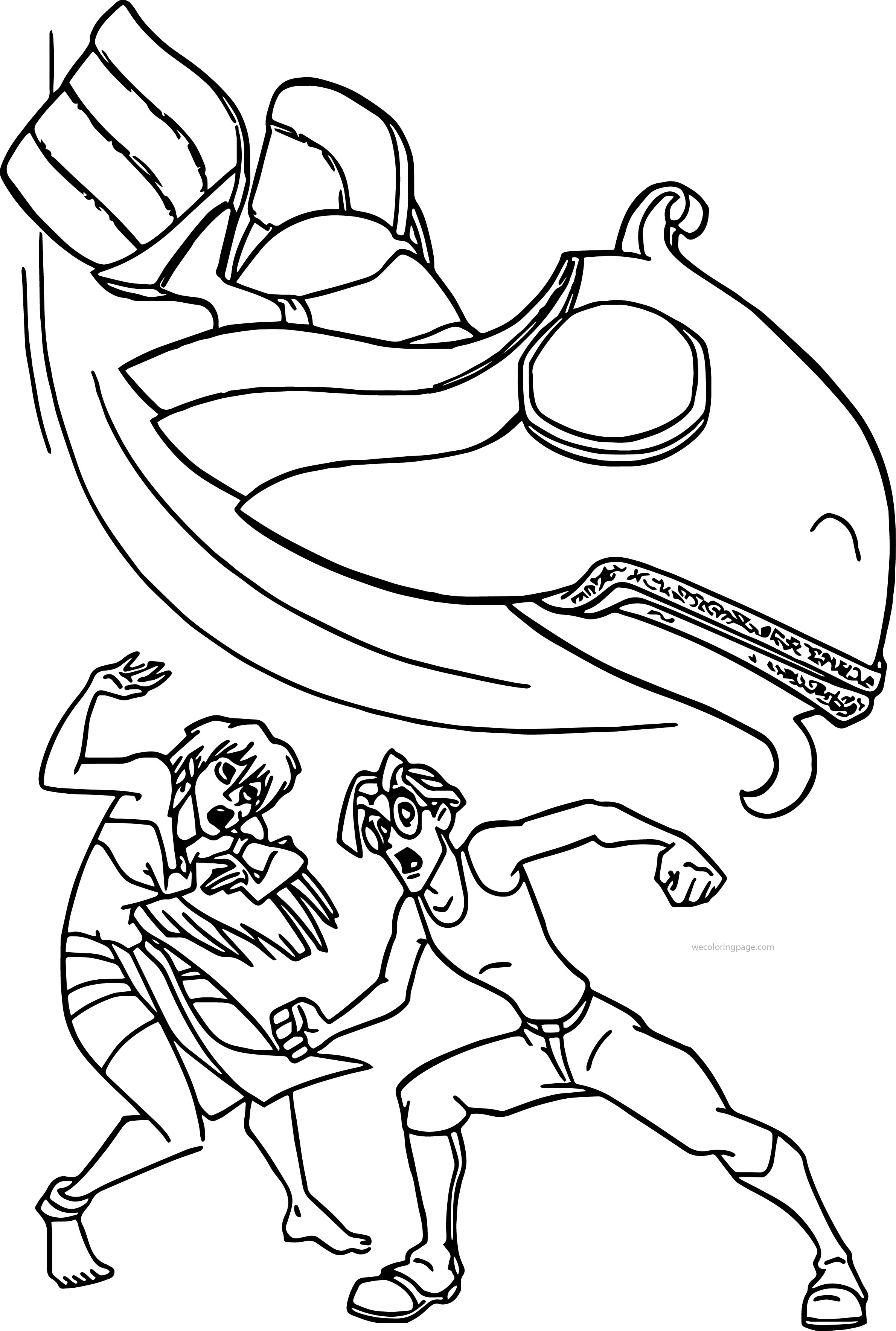 Atlantis The Lost Empire Adventure Coloring Page