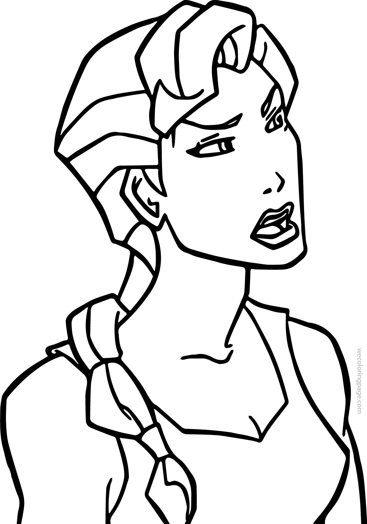 Atlantis The Lost Empire Helga Coloring Page