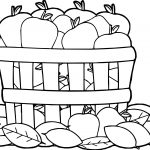 Autumn Apples Coloring Page