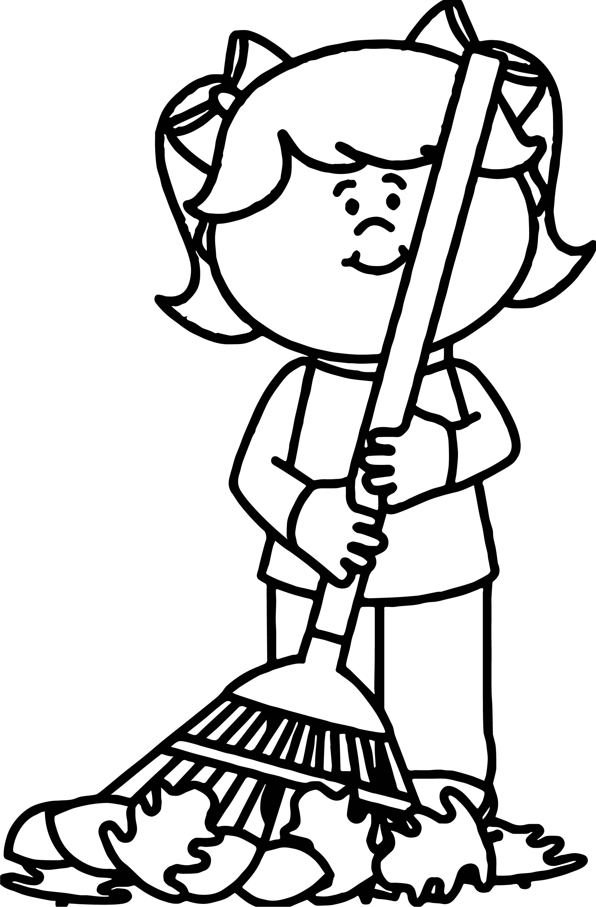 Autumn Girl Coloring Page