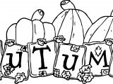 Autumn Text Pumpkin Coloring Page
