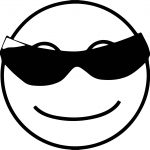 Awesome Black Glasses Coloring Page