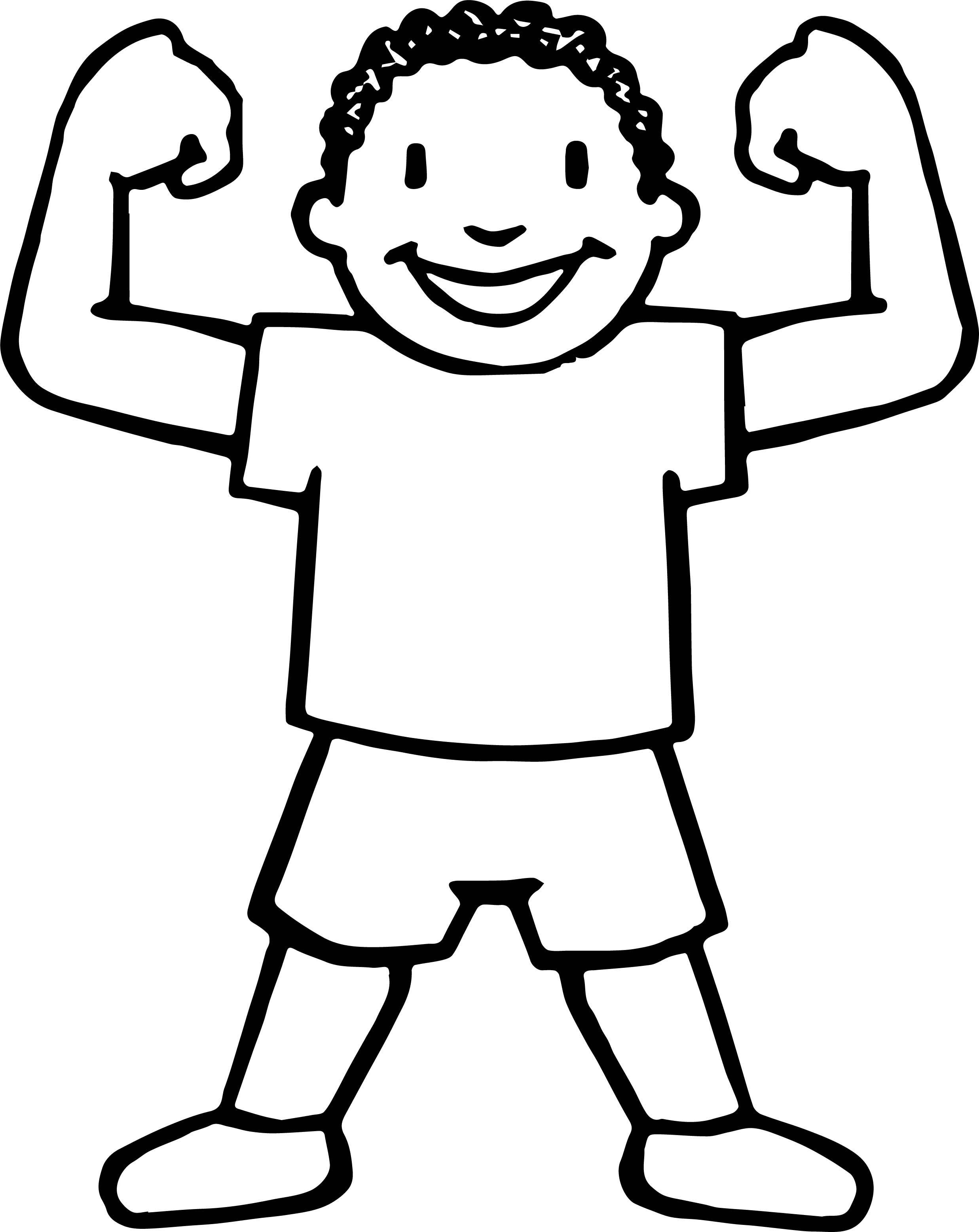 Awesome Child Coloring Page