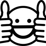 Awesome Face Smiley Coloring Page