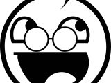 Awesome Glasses Hair Smiley Face Coloring Page
