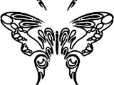 Aztec Butterfly Coloring Page
