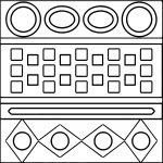 Aztec Carpet Shape Coloring Page