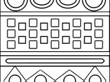 Aztec Carpet Shape Coloring Page