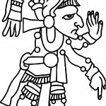 Aztec Idol Coloring Page