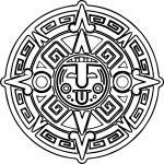 Aztec Mandala Coloring Page