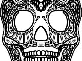 Aztec Skull Design Coloring Page