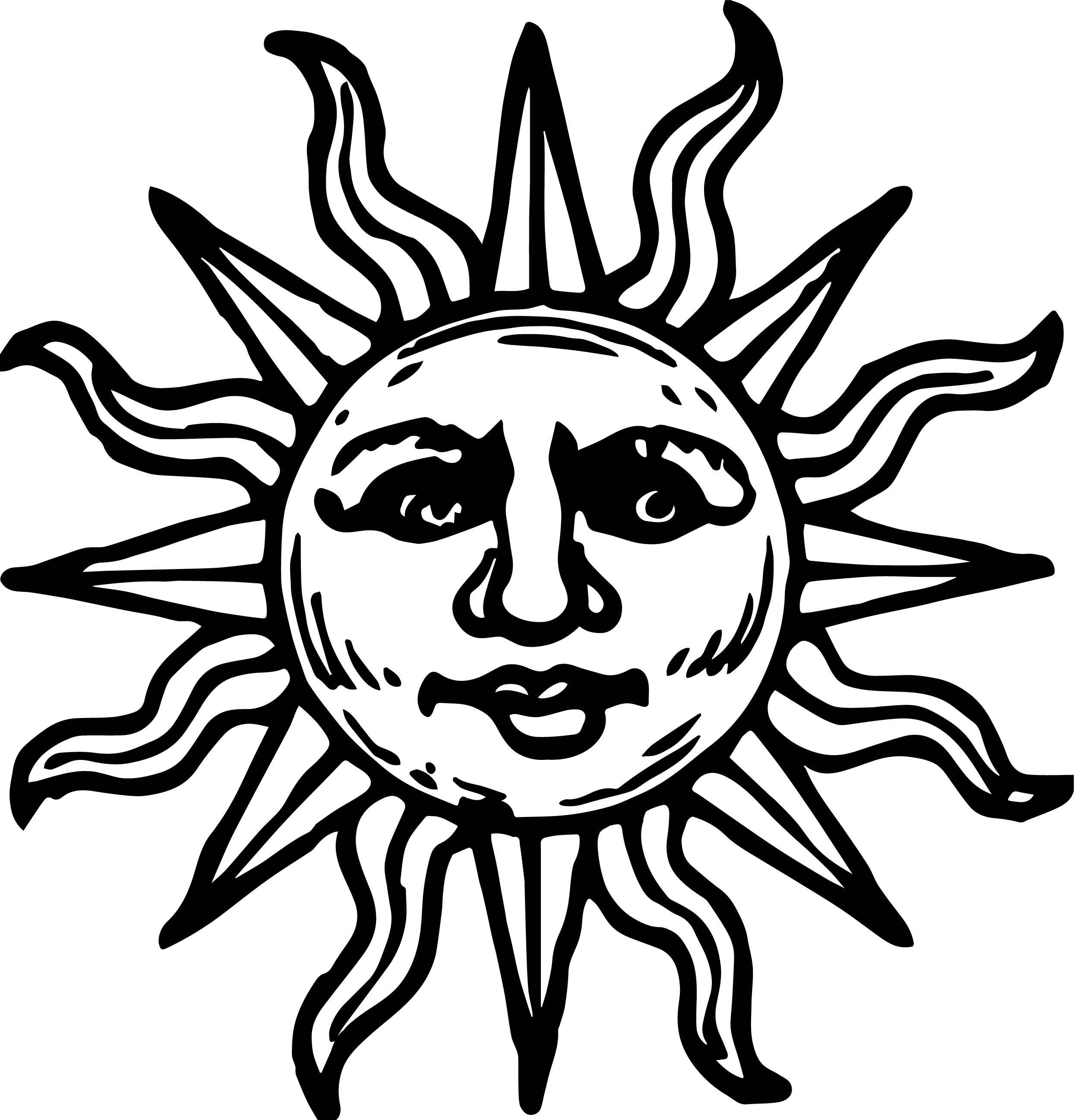 Aztec sun drawing images galleries for Aztec sun coloring page
