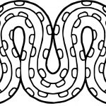 Aztecs Snake Coloring Page