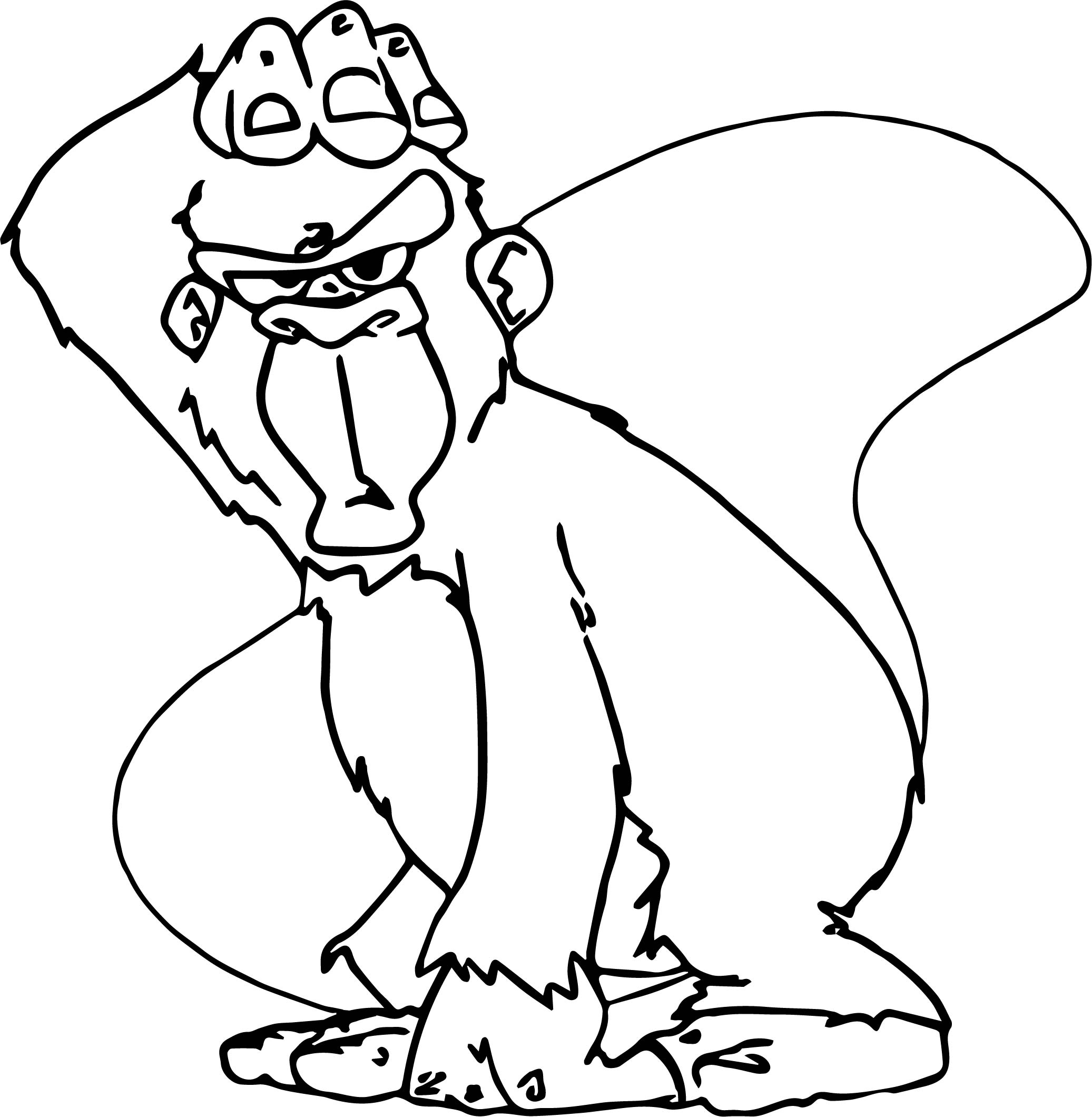Baboon Gorilla Coloring Page