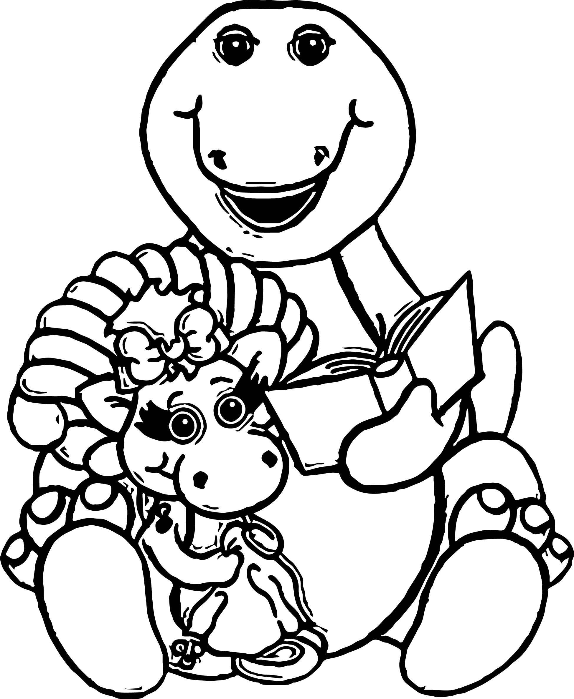 Baby Bop And Sarah Coloring Page