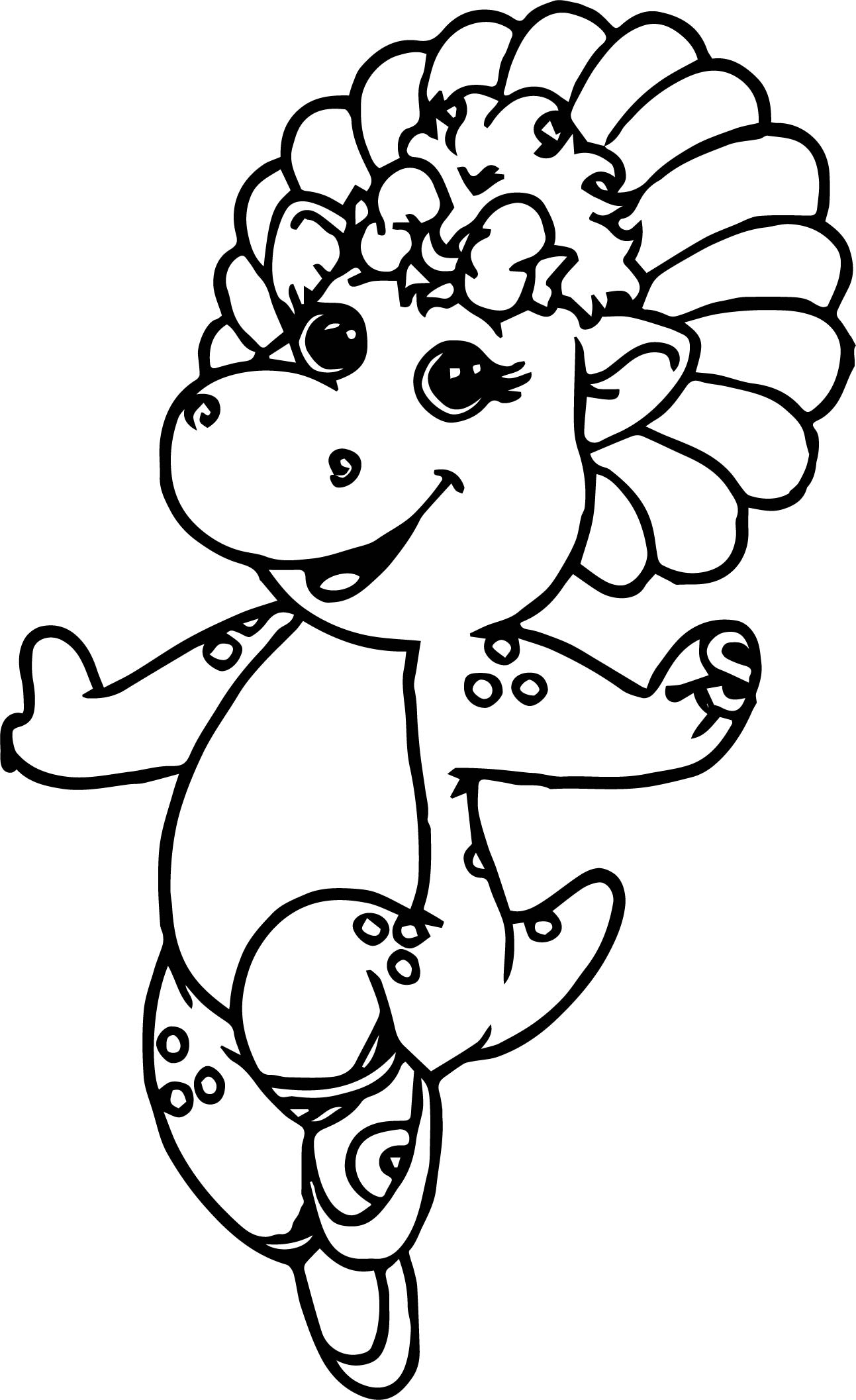 Baby Bop Costumes Font Coloring Page