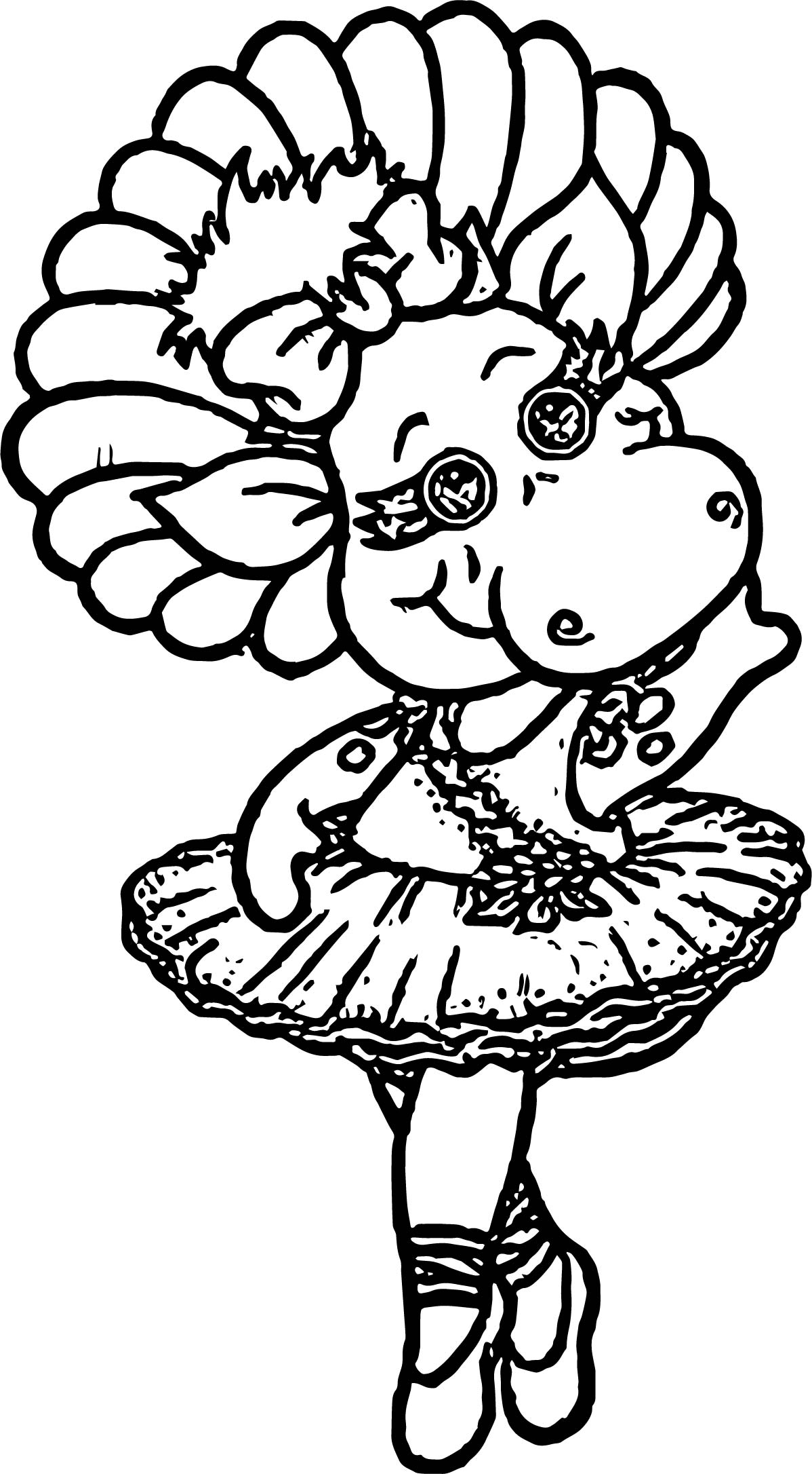 Baby bop dance coloring page for Baby bop coloring pages