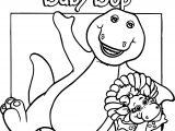 Baby Bop Hello Coloring Page