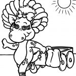 Baby Bop Is Pulling Her Wagon Coloring Page