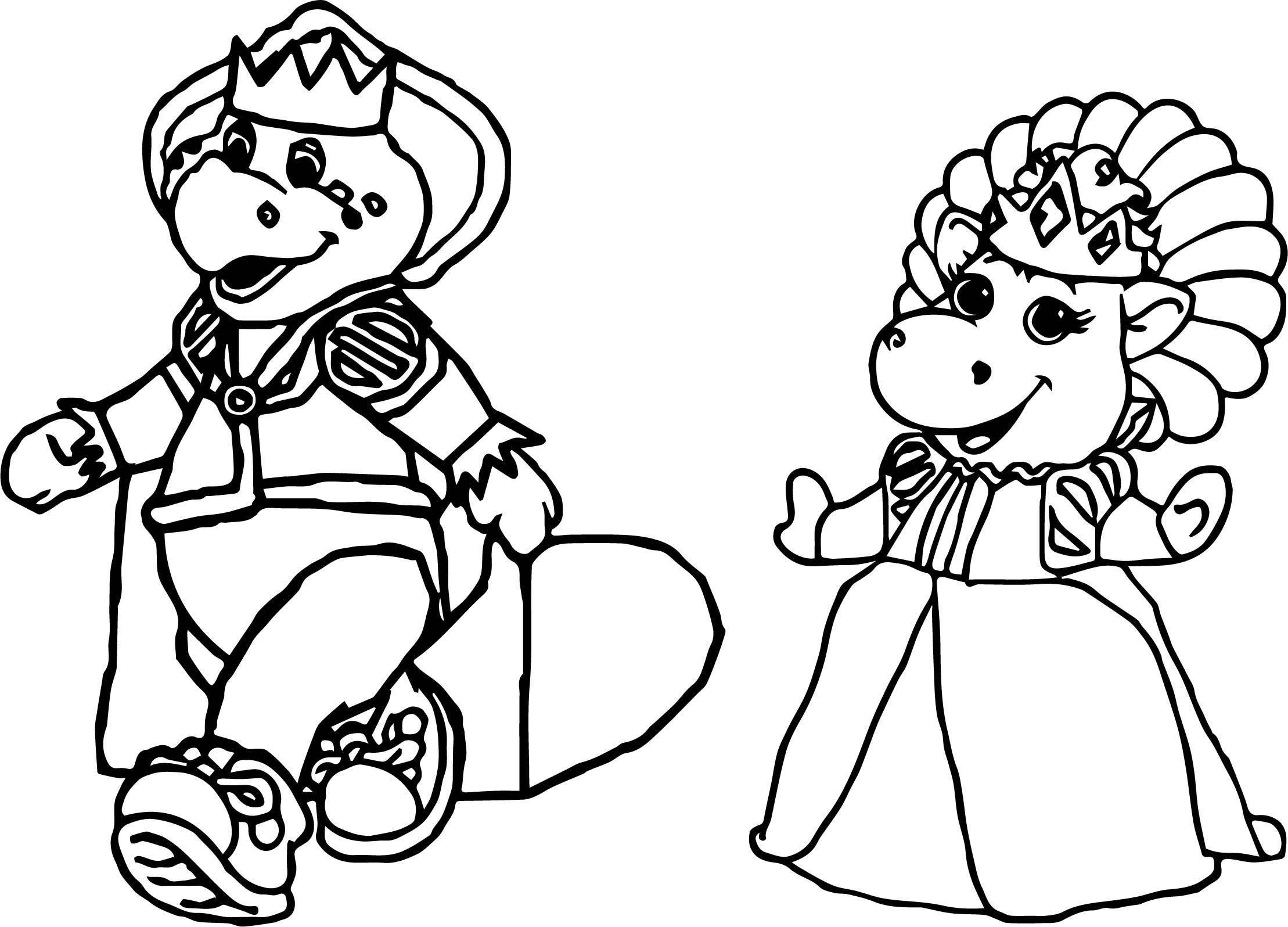 Baby Bop Royalty Coloring Page