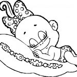 Baby Cartoon Girl Coloring Page